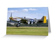 "TF-51D 44-84847 N251RJ ""Miss Velma"" Greeting Card"