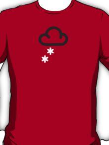 Heavy Snow: Retro weather forecast symbol tee shirt T-Shirt
