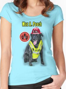 Max A. Pooch-Canine Community Reporter-Environmental Women's Fitted Scoop T-Shirt