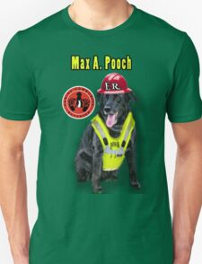 Max A. Pooch-Canine Community Reporter-Environmental T-Shirt