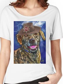 A Canine Community Reporter Fine Art Creation Women's Relaxed Fit T-Shirt