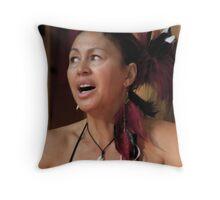 Haka Songstress Throw Pillow