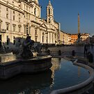 Shadow and Light - Piazza Navona in Rome by Georgia Mizuleva