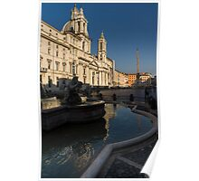 Shadow and Light - Piazza Navona in Rome Poster