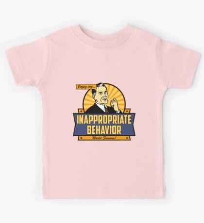Enjoy My Inappropriate Behavior Kids Tee