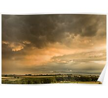 Flight Across The Colorado Plains Poster
