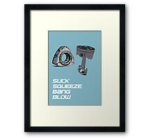 Mazda RX7 Rotary Piston Suck Squeeze Bang Blow Framed Print