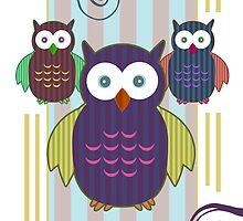 Striped Owls by Adamzworld