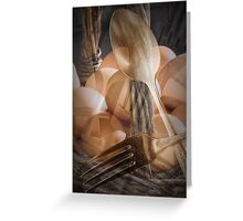 Breakfast Dream abstract image Greeting Card