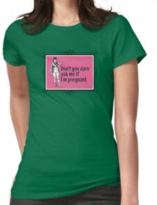 I'm NOT pregnant - Pointing Woman Pink Womens Fitted T-Shirt