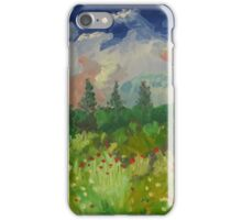 Poppies in a country field iPhone Case/Skin