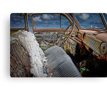 Auto Interior of Abandoned Vehicle Canvas Print