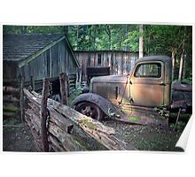 Old Farm Pickup Truck Poster