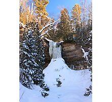 Frozen Munising Falls Photographic Print