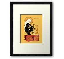 Le Chat Noir Framed Print