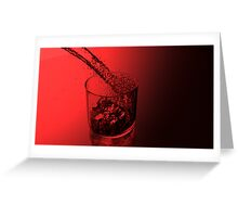 Red Glass Greeting Card