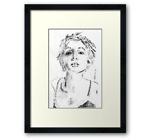 cute face Framed Print