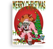Merry Zombie Christmas Canvas Print