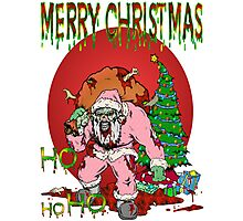 Merry Zombie Christmas Photographic Print
