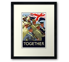 Together -- British Empire WWII Framed Print