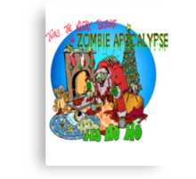 Merry Zombified Christmas Canvas Print