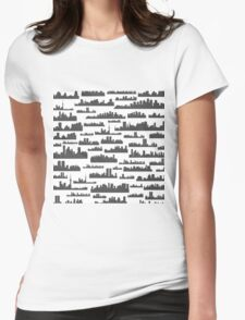 Landscape a background Womens Fitted T-Shirt