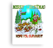 Zombie Santa is here Canvas Print