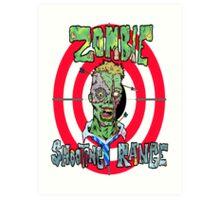 Zombie Shooting Range Logo Art Print