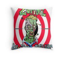 Zombie Shooting Range Logo Throw Pillow