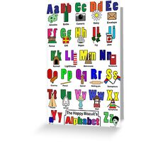 Alphabet poster Greeting Card