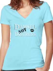 Damsel NOT in Distress Women's Fitted V-Neck T-Shirt