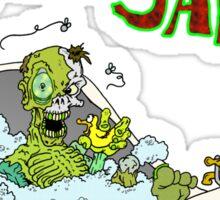 I Love Bath Salts Zombie Sticker