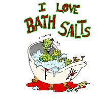 I Love Bath Salts Zombie Photographic Print