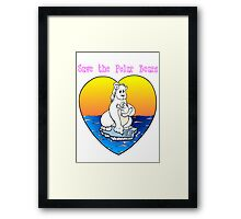 Save the Polar Bears Framed Print