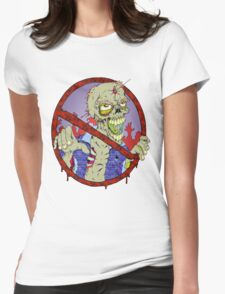 No Zombies Womens Fitted T-Shirt