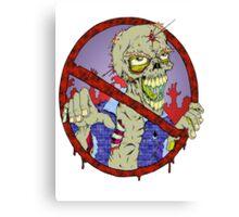 No Zombies Canvas Print