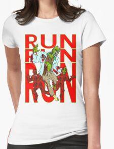 Zombies, Runnnn Womens Fitted T-Shirt