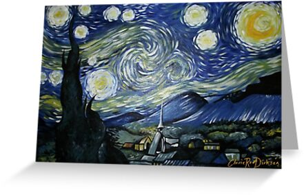 Reproduction of Starry Night by Cherie Roe Dirksen