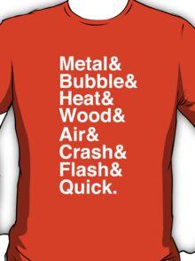 Mega Man 2 Robot Master Typography Shirt T-Shirt