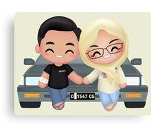 Cute Romantic Partner Canvas Print