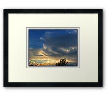 ©HCS The Cloudscape Behind The Tree Framed Print