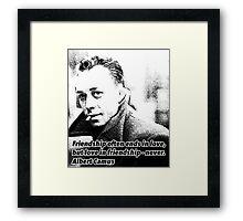 Alber Camus Quote Framed Print