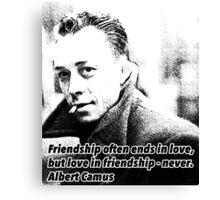 Alber Camus Quote Canvas Print