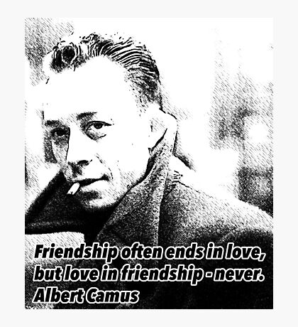 Alber Camus Quote Photographic Print