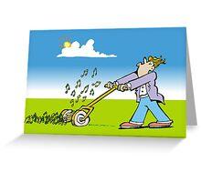 mower Greeting Card