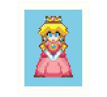 Pixel Peach 32-bit Art Print