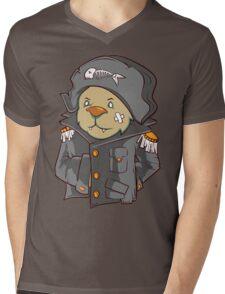 Captain Cat Mens V-Neck T-Shirt