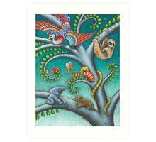 Tree o Life triptych - panel 2 Art Print