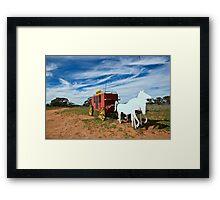 Outback Mailbox Framed Print