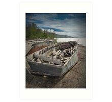 Shipwreck at Neys Provincial Park  No. 1737 Art Print